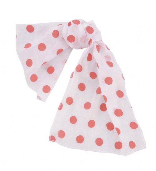 50s Polka Dot Scarf for 50s Rockabilly Fifties Fancy Dress Accessory